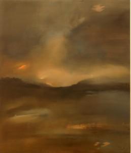 Refúgio do Tempo, 2005. Óleo s/ tela 140 x 120cm
