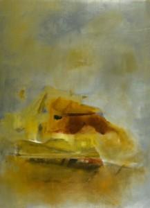 Casa com vista, 2009. Técnica mista s/ tela 100 x 73cm