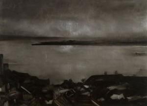 Tejo ao entardecer, 2007. Técnica mista s/ tela 73 x 100cm